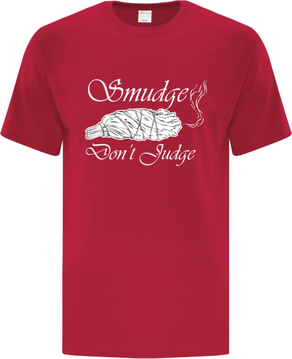 Smudge Don't Judge Tee Red