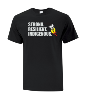 Strong Resilient Indigenous Tee Black