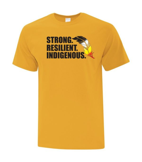 Strong Resilient Indigenous Tee Yellow