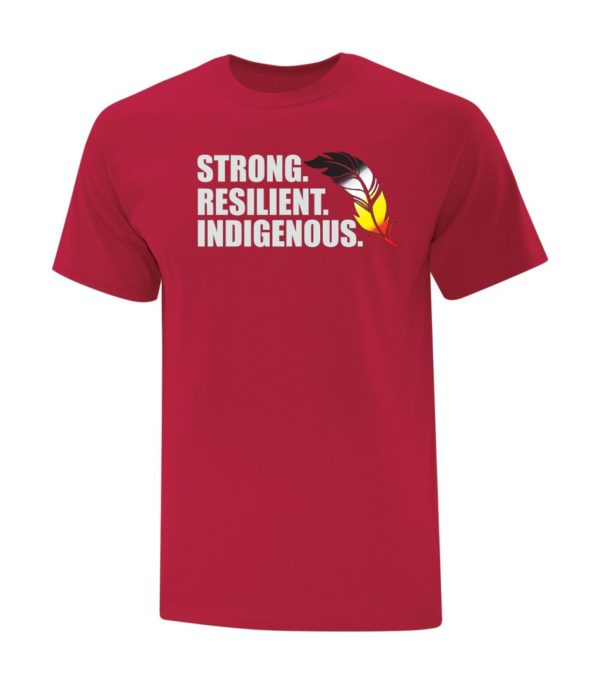 Strong Resilient Indigenous Tee Red