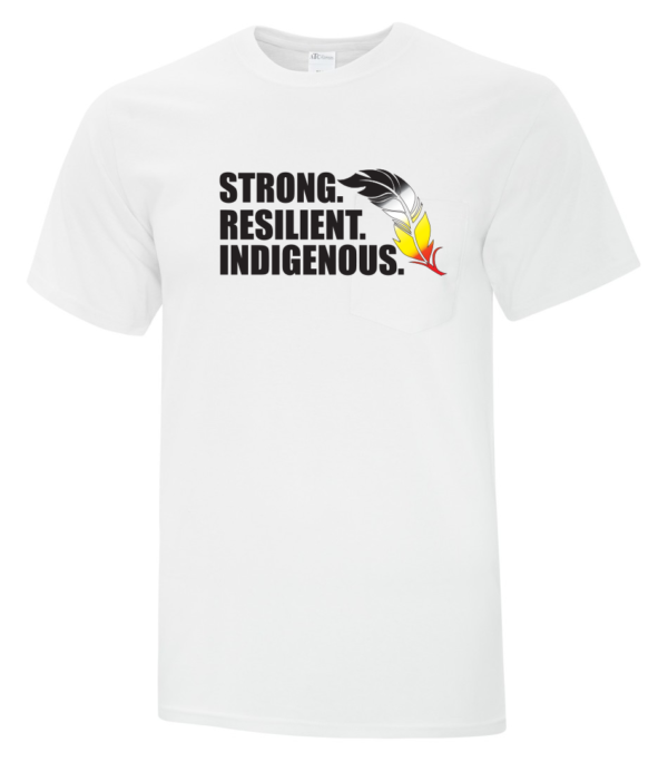 Strong Resilient Indigenous Tee White