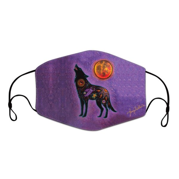 Purple Mask with Fire Within Artwork.