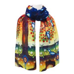 Tree of Life scarf, tied