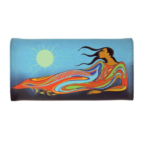 Blue and green Mother Earth Wallet, back