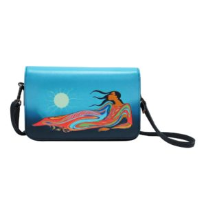 Blue and Green Mother Earth Purse