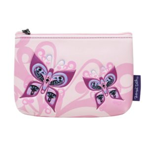 Pink with Butterflies, Celebration of Life artwork on coin purse.