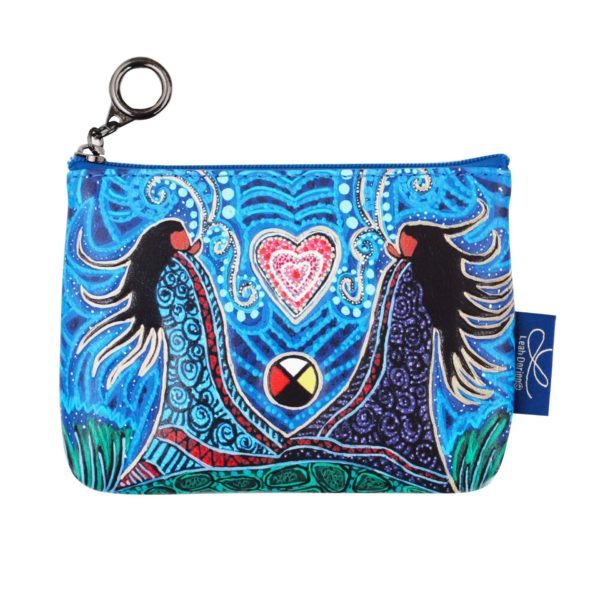 Blue Breath of Life artwork on coin purse.