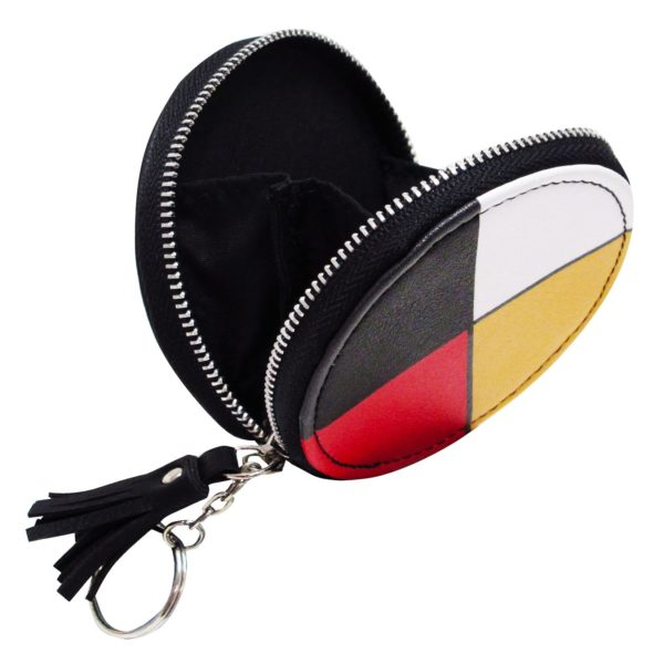 Opened Coin Purse Decorated with Medicine Wheel