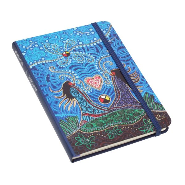 Blue and Green Breath of Life Hardcover Journal