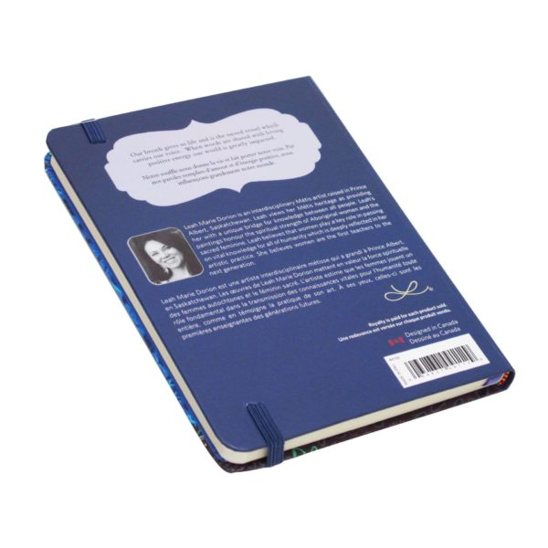 Blue and Green Breath of Life Hardcover Journal, back