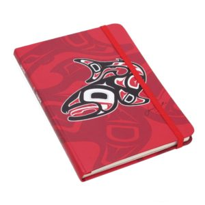 Red Salmon Hardcover Journal