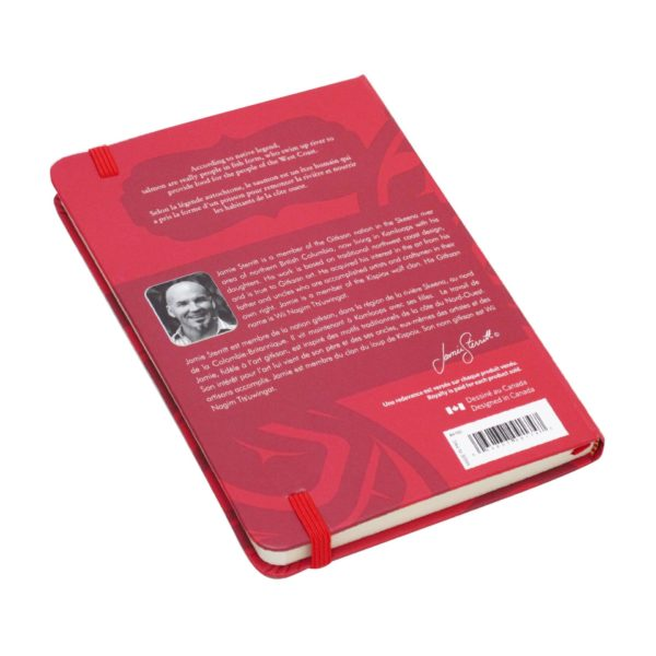 Red Salmon Hardcover Journal, back