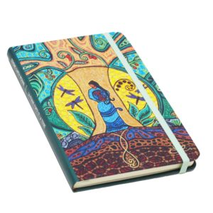 Blue, Yellow, and Green Strong Earth Woman Hardcover Journal