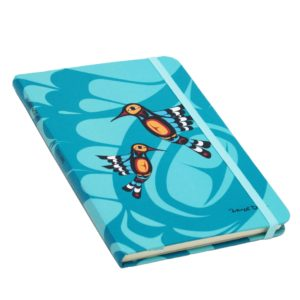 Teal Hummingbird Hardcover Journal Front Cover
