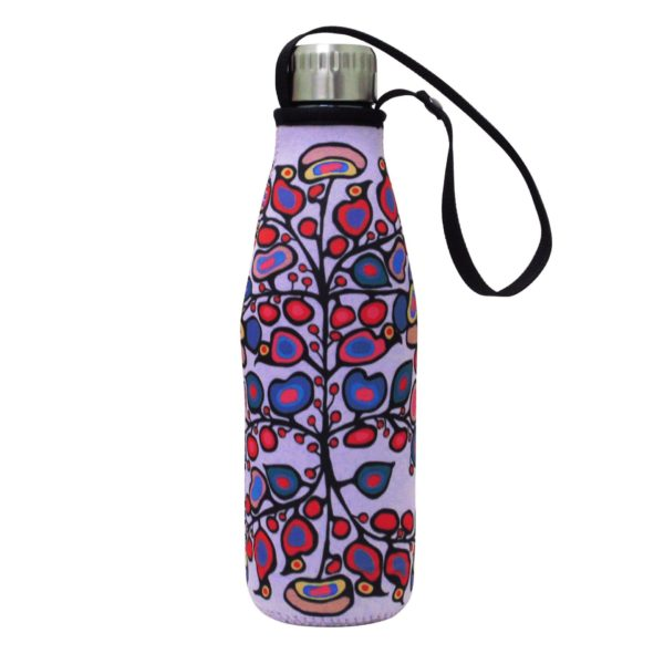 Lilac Woodland Floral Water Bottle and Sleeve