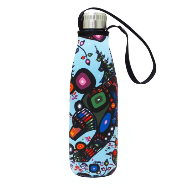 Multicolour, Bear Water Bottle and Sleeve