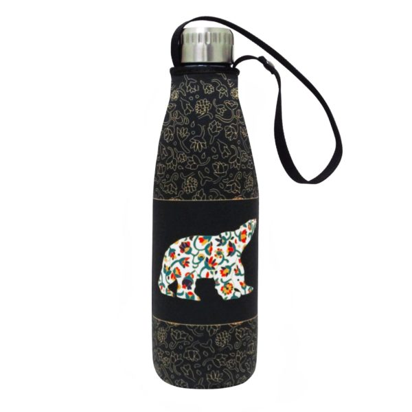 Black Spring Bear Water Bottle and Sleeve