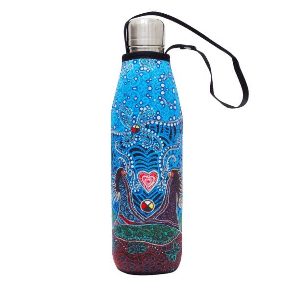 Blue, Breath of Life Water Bottle and Sleeve