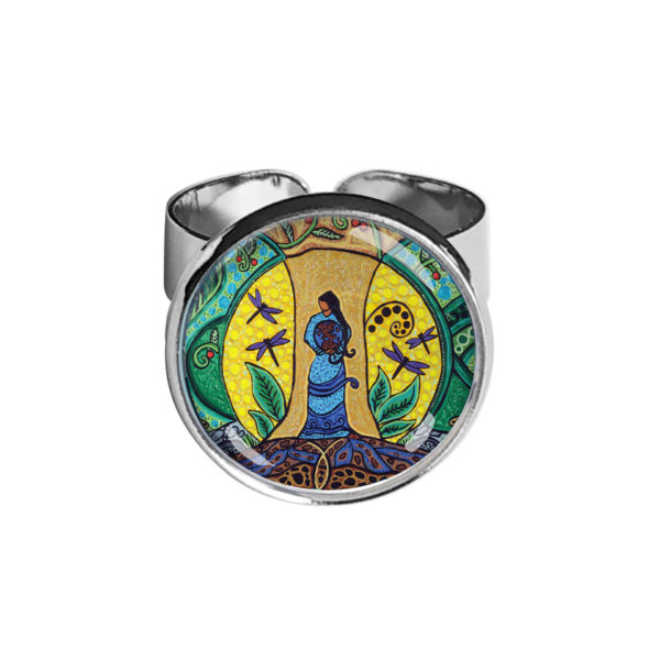 Strong Earth Woman Silver Ring