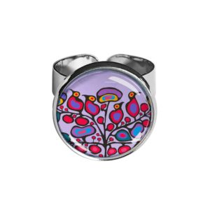 Woodland Floral Silver Ring