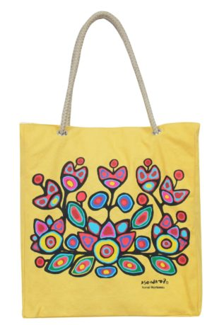 Yellow bag with Flowers artwork