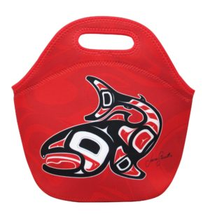 Red Salmon Artwork Lunch Bag