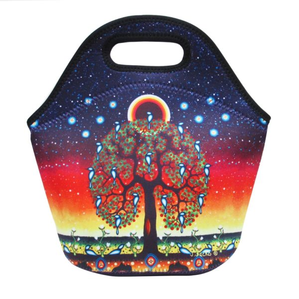 Blue, Red, and Yellow Tree of Life Artwork Lunch Bag