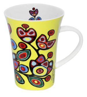 Yellow Floral Porcelain Mug