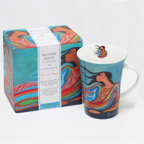 Blue Mother Earth Porcelain mug, with giftbox