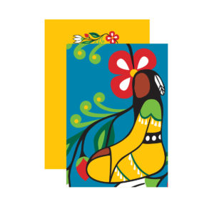 Blue Her Jingle Dress Notebook with yellow back