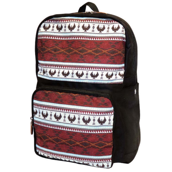 Spirit of the Sky Woven backpack. Red and white with eagle motif.
