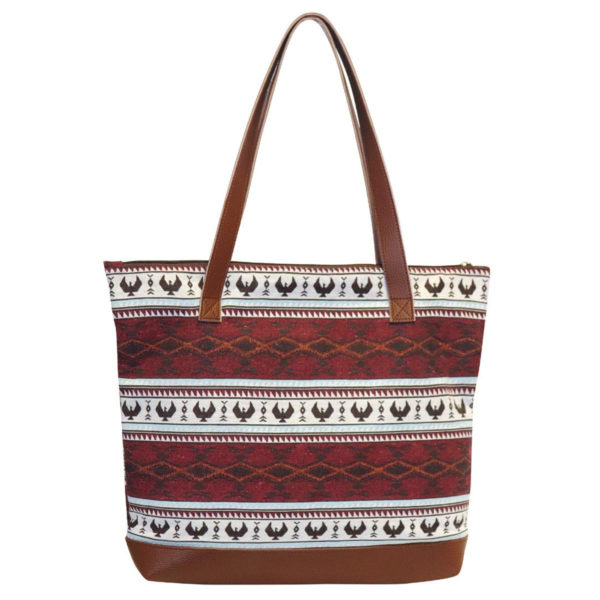 Spirit of the Sky Woven Tote bag. Red and white with eagle motif.
