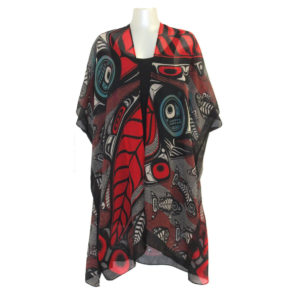 """Red and Black """"Sustaining Our Future"""" Design fashion wrap, front"""