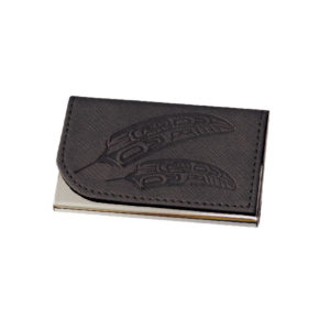 Gift of Honor Feather Business Card Holder in Black