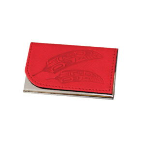 Gift of Honor Feather Business Card Holder in Red