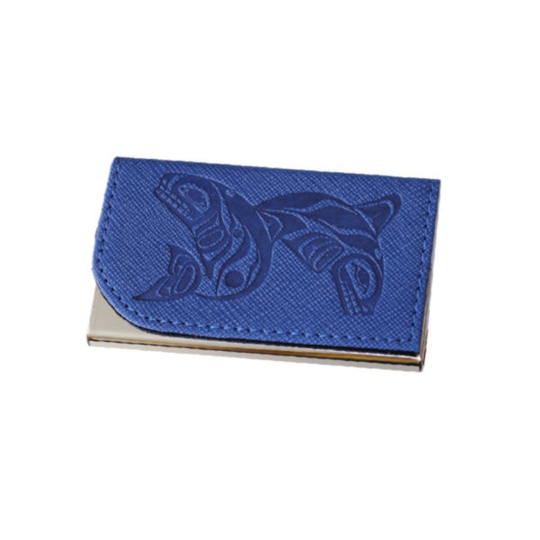 Whales Business Card Holder in Blue