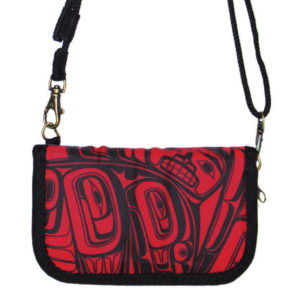 Red and Black Pacific Cross Body Zip wallet